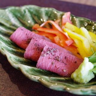 徳山鮓 - 料理写真:鹿肉のロースト