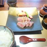 千成亭 - 上ロースステーキ