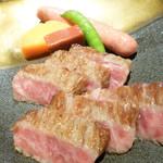 千成亭 - ステーキ