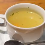 自家製パスタ洋食堂 マルブン - 料理写真:今日のスープ