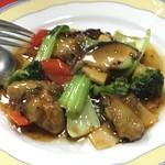 曽筵 - 牡蠣と青梗菜の山椒炒め