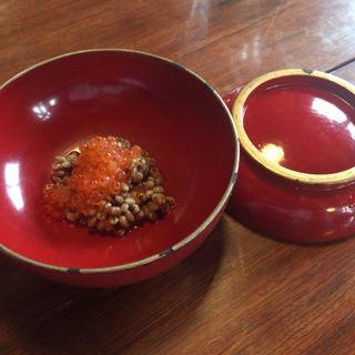 慈久庵 - 料理写真:超珍味・おひしょ 岩魚の卵添 600円