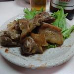 霧島の豚鳥店 - 親鶏モモ350円