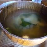 実家カフェ山田 - 味噌汁