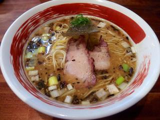 麺屋 悠 - 味噌そば(850円)+小ライス(ランチタイムサービス)