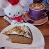 エドガワ コーヒー カンパニー - 料理写真:キャロットケーキ、カプチーノ