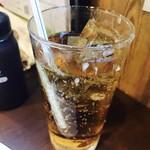 上野酒場 情熱ホルモン - グラスが凍ってます!