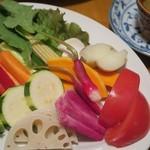 78132187 - 「季節野菜のバーニャカウダ」