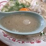 丸幸ラーメンセンター - 2017年12月17日  スープ(濃厚で美味しい ! )