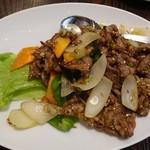 78134340 - 羊肉の中国クミン味炒め780円(税抜)