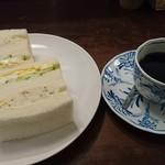 78135903 - 玉子&ポテトサラダとコーヒー