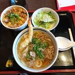 78141591 - 肉うどん+海老天+玉子とじ丼