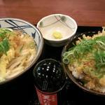 丸亀製麺 - かけ(大) 390円               白ごはん(大盛り) 180円