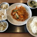 中華料理 豊楽園 - 酢豚のセット ¥750です。