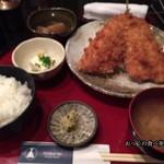 北海亭 - アジフライ定食 1000円