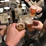 焼肉グレート - ビールで乾杯
