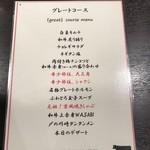 焼肉グレート - グレートコースメニュー