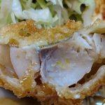 好養軒 - 好養軒 @御徒町 魚フライに使われる鯵は厚みがありホクホク食感