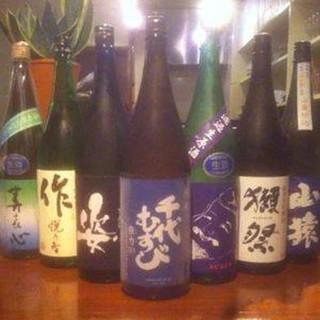 【純米酒10種以上】店主こだわりの純米酒をご用意しております