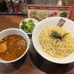 78162515 - 煮干しつけ麺 熱盛 柚子三つ葉トッピンナ♪