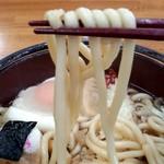 北のそば和佳亭 - 麺の感じ