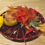 やまぐち - 料理写真:ゆず釜の中はフォアグラをキャラメリゼして。