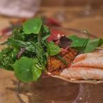 やまぐち - せこ蟹とハーブのサラダ。
