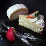 cake & cafe Ecrin - 料理写真:サイド & ミルクレープ