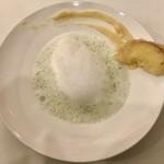 Restaurant LE MiDi - じゃがいもとアオサのスープ