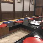 料理旅館 田事 - 掘りごたつ式の囲炉裏端の席で風情があります