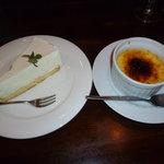 マンジャ ピエーノ - チーズケーキ クリームブリュレ