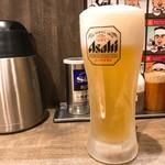 つけめんTETSU - 2017年12月 生ビール(500円)