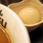 つけめんTETSU - 2017年12月 別皿の煮卵