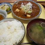 和のファーストフード そば・うどん 亀 - 料理写真:ホルモン定食 820円