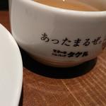 1ポンドのステーキハンバーグ タケル - 2017年12月限定・1日5食までの『特盛りローストビーフ丼(税込み940円)』に付くスープ。