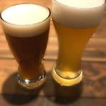 78173073 - 左:雷(いかづち)IPA 税込み650円。右:月の杯(さかづき)ヴァイツェン  税込み540円