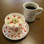 キョウトギオンミュージアムカフェ プロデュース バイ ノースショア - 水玉あんみつ&ノースショア・ブレンド