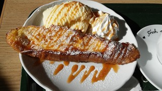 ロバーツコーヒー 福岡大名店 - フレンチトースト、キャラメルソース