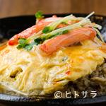 初代 山ちゃん - ふわとろたまごの天津飯風『あんかけ炒飯』