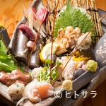 なごぬふぁ - 朝絞め直送・新鮮な宮崎県産「地頭鶏」の『お造りの盛り合せ(大)』
