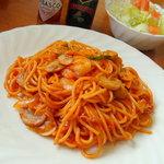 レストランかしわ - スパゲティナポリタン♪