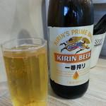 麺屋 TAKA - ビール(瓶)2017.12.16