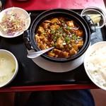 中華居酒屋 龍昇 - 定食メニュ-(マ-ボ-豆腐)