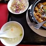中華居酒屋 龍昇 - 定食メニュ-(マ-ボ-豆腐)の左側