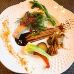 レストラン マイセン - ブリの白ワイン蒸しバルサミコソース