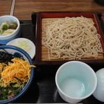 砂場 - 料理写真:「日替わり」です。サラダ付きは+¥110.