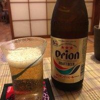 赤田風 - ドリンク写真:まずはオリオンビールで