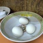 石田食堂 - ゆで卵セービス