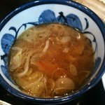 三ツ矢堂製麺 - つけ汁アップ