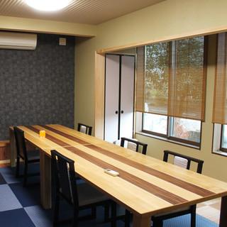 1階テーブル席(5室)